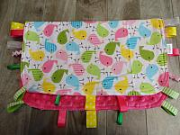 Blankie--Spring Birds on Fushia minky