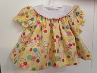 Lg--Yellow Dots & Swirls Dress & Panty set *
