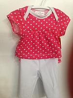 LVB--Pink dots top & leggings set *